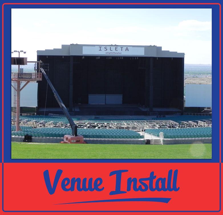 Isleta Amphitheater Install